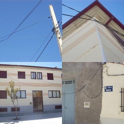 Izquierda Unida Miranda de Azán denuncia el estado del tendido eléctrico de la localidad